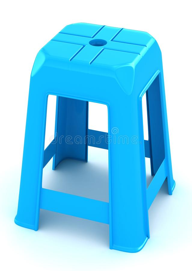 tabouret en plastique bleu illustration stock. Black Bedroom Furniture Sets. Home Design Ideas