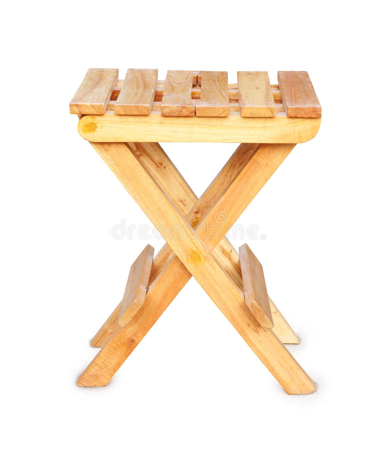 tabouret se pliant en bois photo stock image du s ance 16516510. Black Bedroom Furniture Sets. Home Design Ideas