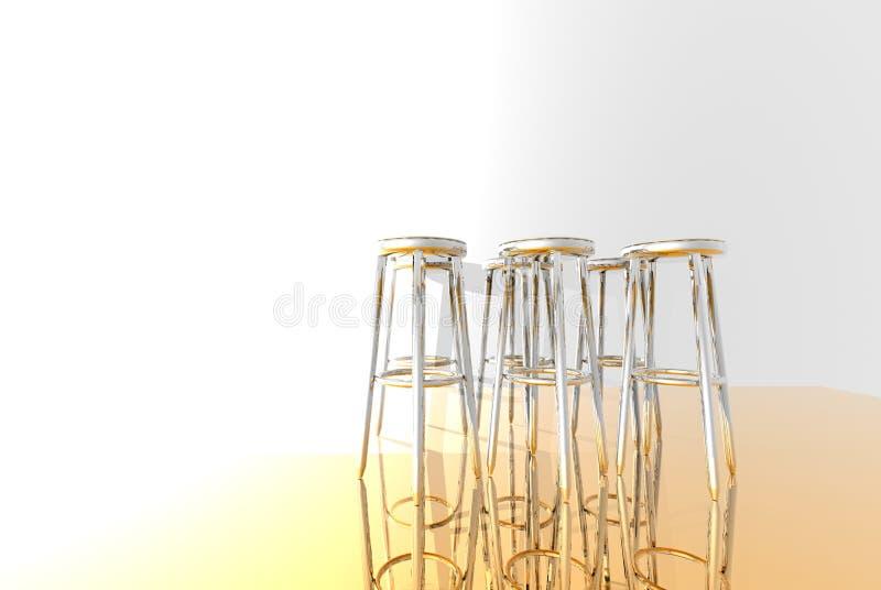 Tabourets de bar illustration de vecteur