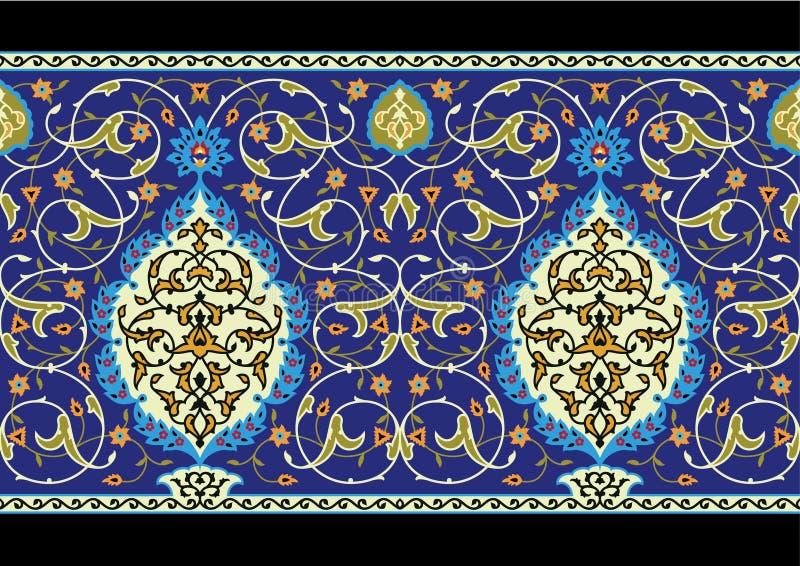 Tabriz-komplizierter nahtloser Rand lizenzfreie abbildung