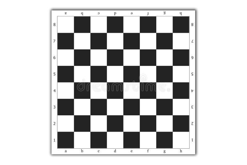 Tabuleiro de xadrez ilustração do vetor