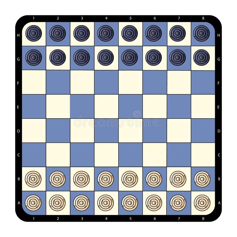 Tabuleiro de xadrez liso dos verificadores da vista superior Ilustra??o do vetor ilustração do vetor