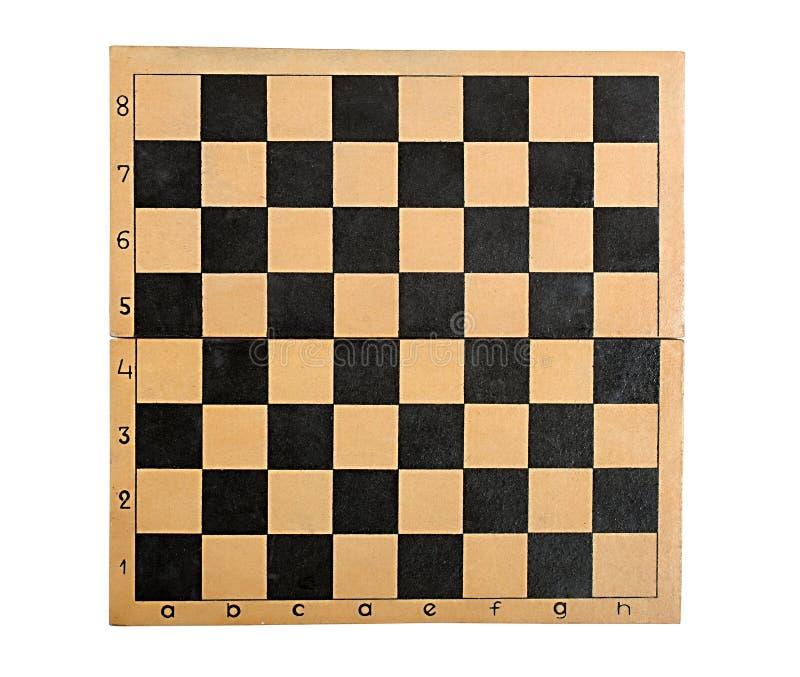 Tabuleiro de xadrez vazio velho fotos de stock