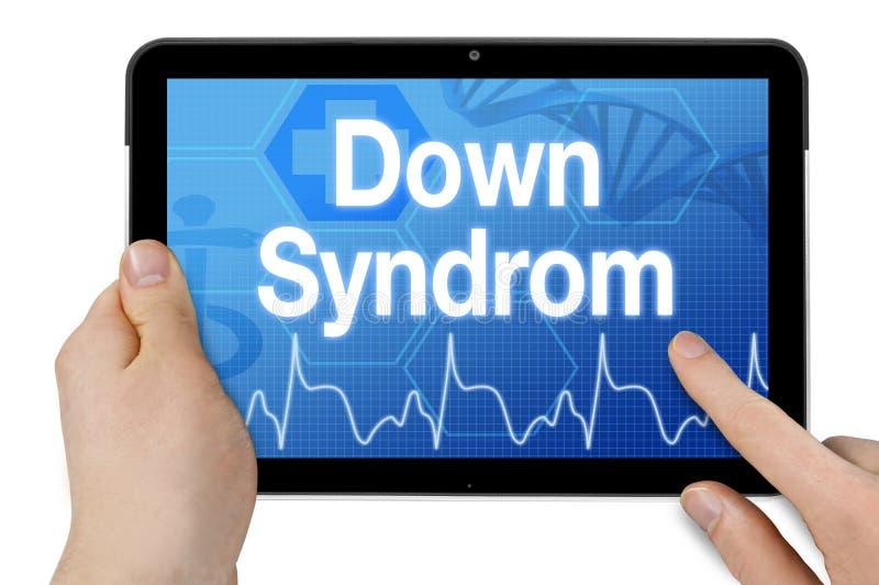 Tabuleta com écran sensível e síndrome das penas do diagnóstico fotos de stock royalty free