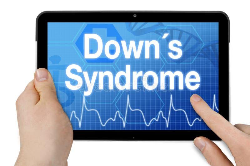 Tabuleta com écran sensível e síndrome das penas do diagnóstico fotografia de stock royalty free