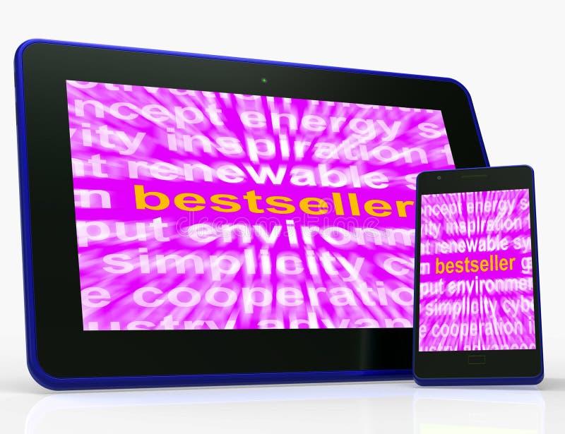 A tabuleta do bestseller significam o favorito quente ou o mais popular ilustração royalty free