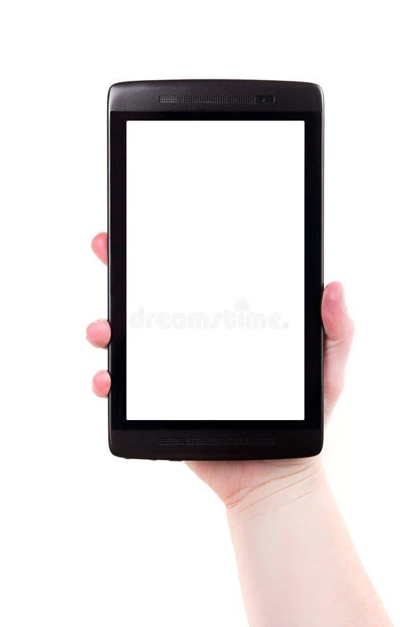 Tabuleta em branco do écran sensível de Digitas fotografia de stock