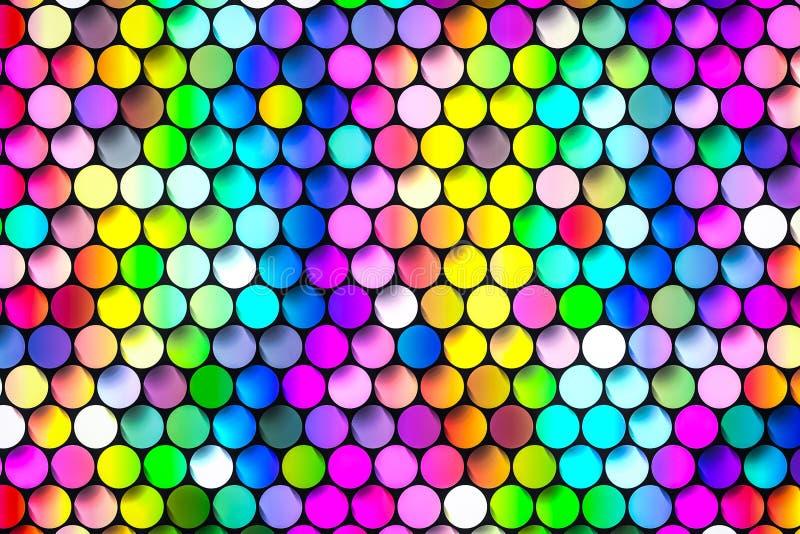 Tabuletas coloridos vibrantes das gemas com sextavado ilustração royalty free