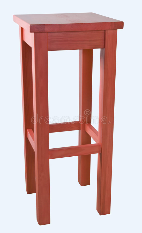 Taburete rojo imagen de archivo. Imagen de muebles, taburete - 3354587
