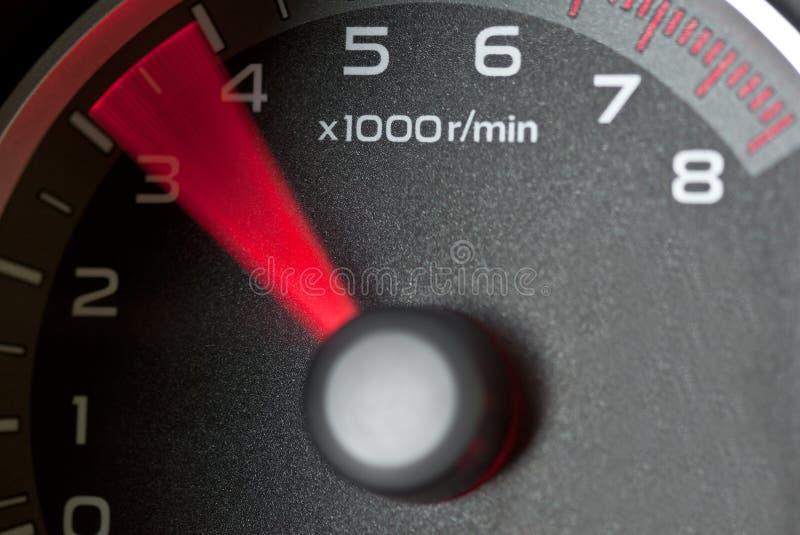 Tacômetro do carro imagens de stock