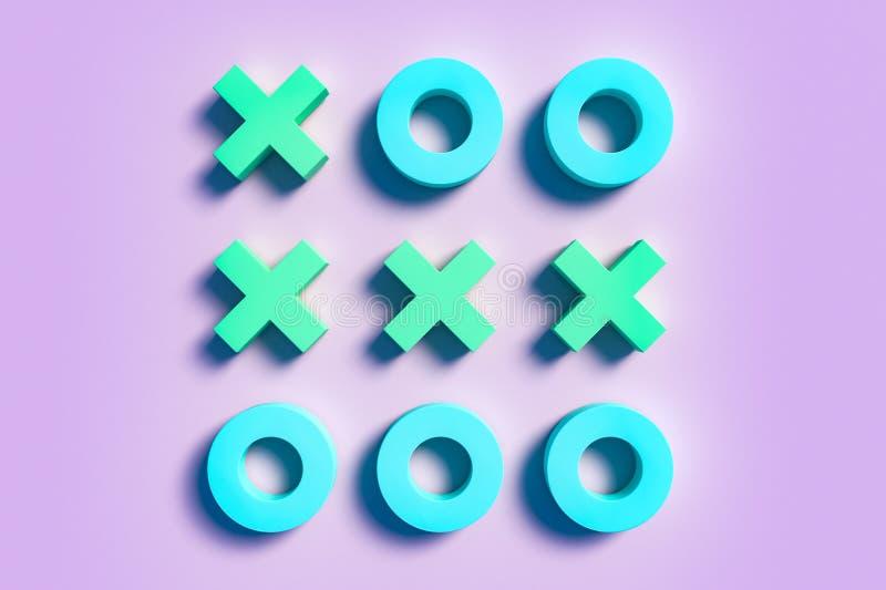 Tac van de pastelkleurentic teen creatieve achtergrond stock illustratie