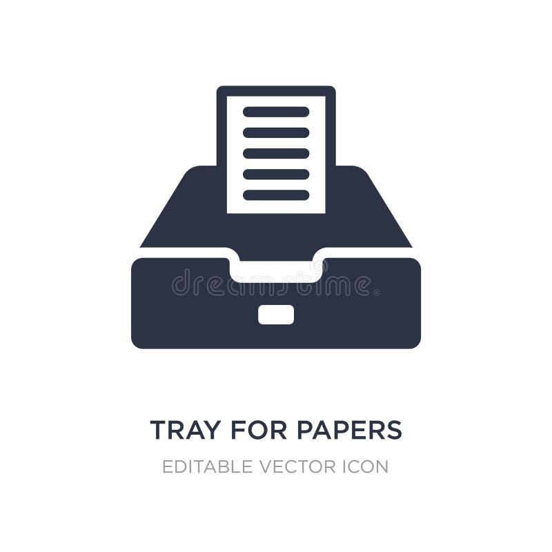 taca dla papier ikony na białym tle Prosta element ilustracja od narzędzi i naczyń pojęcia royalty ilustracja