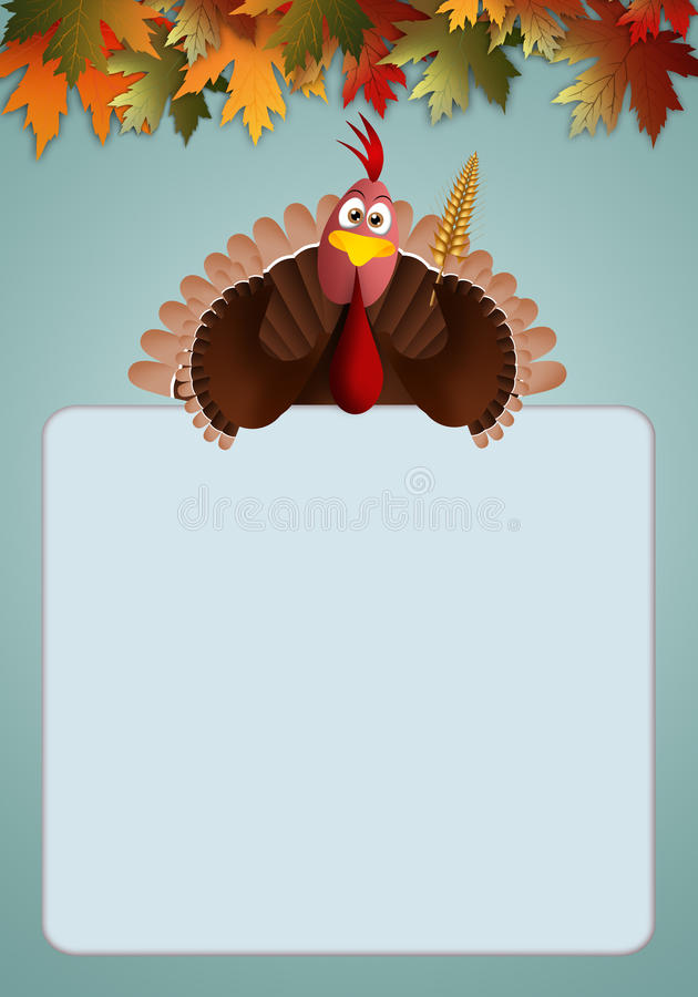 Tacchino per il giorno di ringraziamento illustrazione di - Tacchino stampabile per il ringraziamento ...