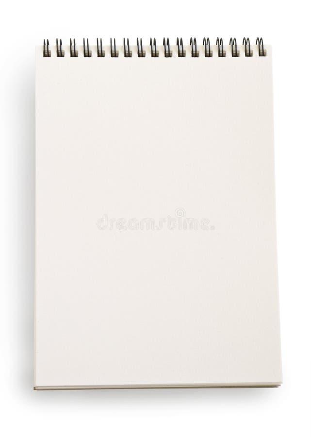 Taccuino bianco fotografie stock