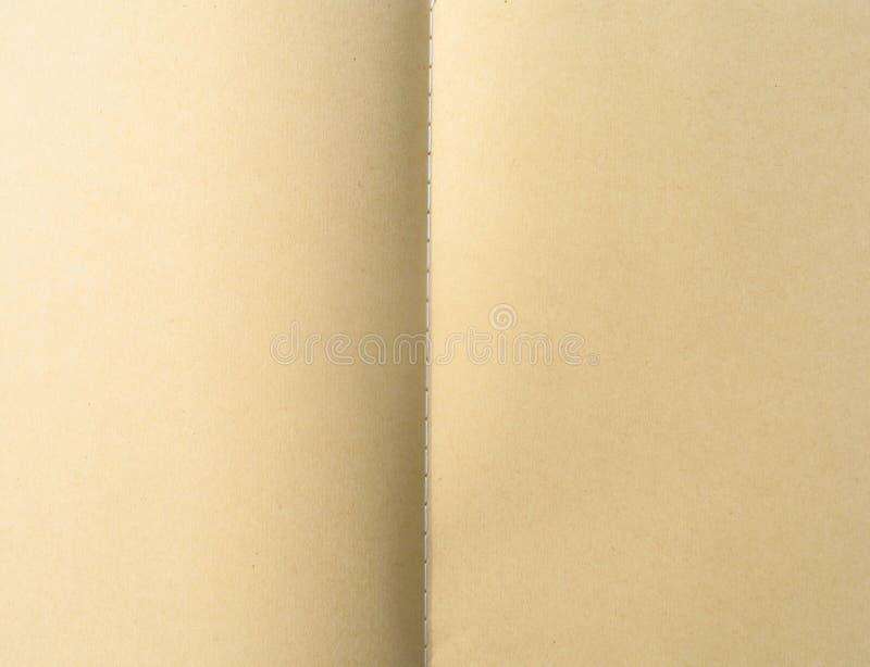 Taccuino in bianco della carta di Brown fotografia stock