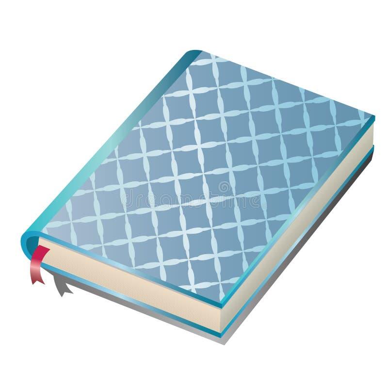 Taccuino blu illustrazione vettoriale