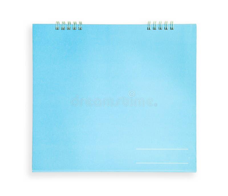 Taccuino blu fotografia stock libera da diritti