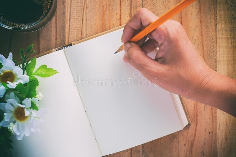 Taccuino del diario per la scrittura della memoria buona immagini stock