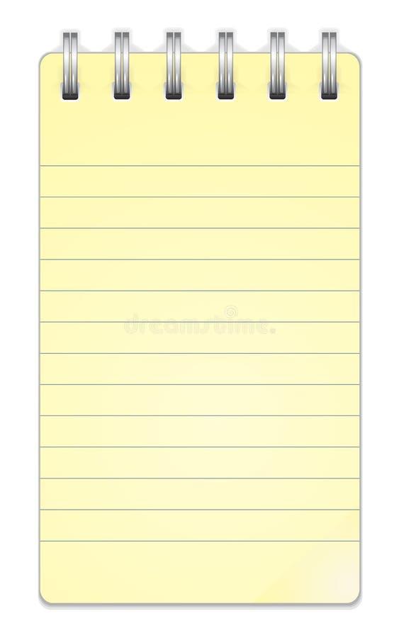 Taccuino del documento in bianco illustrazione di stock