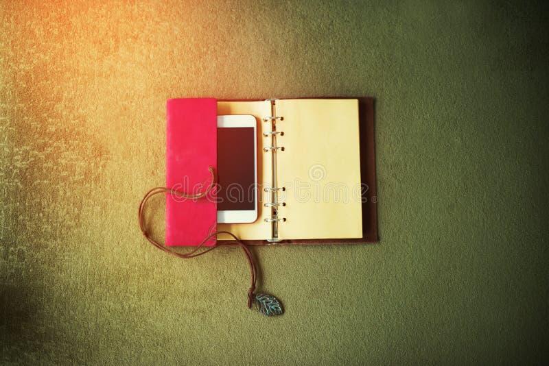 Taccuino del telefono degli accessori del Ministero degli Interni del lavoro dell'oggetto immagine stock