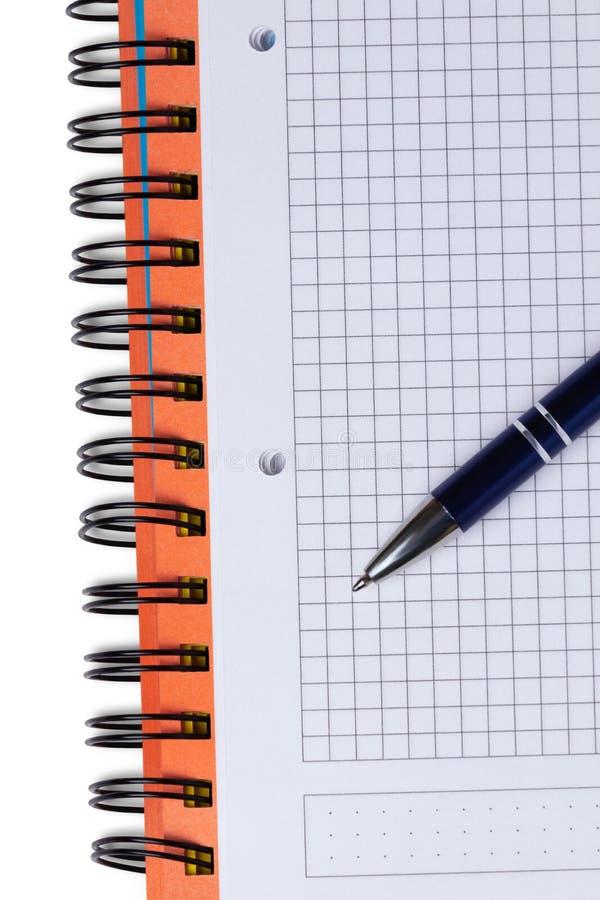Taccuino e penna immagine stock
