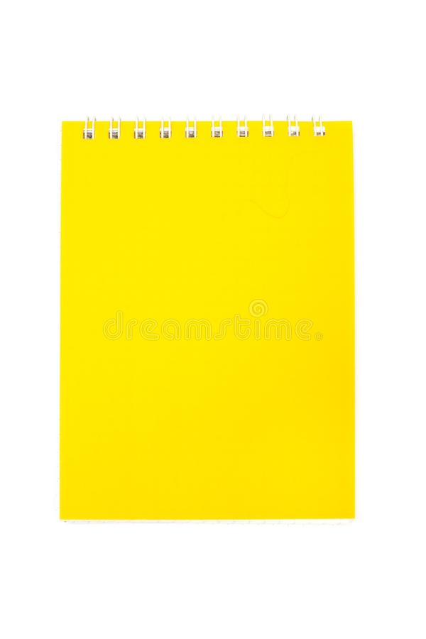 Taccuino giallo fotografia stock