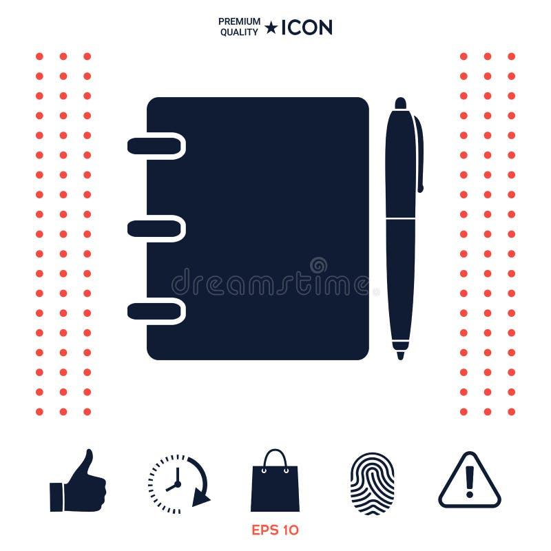 Download Taccuino, Indirizzo, Guida Telefonica Con L'icona Di Simbolo Della Penna Illustrazione Vettoriale - Illustrazione di mobile, notepad: 117976116
