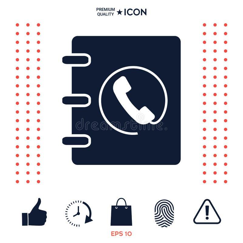 Download Taccuino, Indirizzo, Icona Della Guida Telefonica Con Il Simbolo Del Microtelefono Illustrazione Vettoriale - Illustrazione di etichetta, nota: 117976089