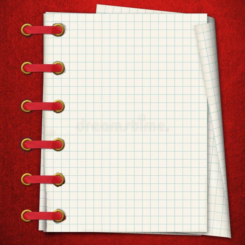 Download Taccuino rosso. illustrazione di stock. Illustrazione di gruppo - 3875757
