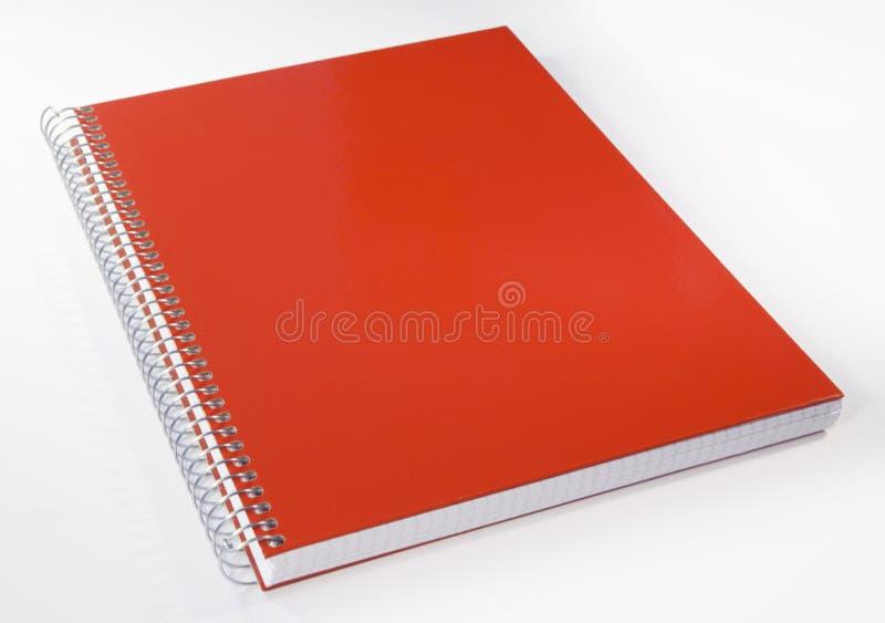 Taccuino rosso fotografie stock libere da diritti