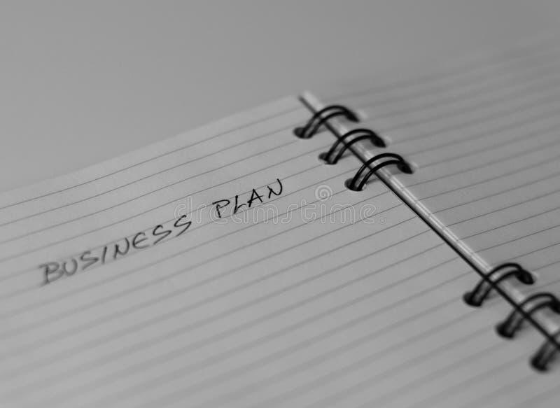 Taccuino vuoto che aspetta un business plan fotografia stock libera da diritti