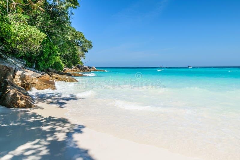 Tachai Island. At Andaman Sea in Thailand royalty free stock photos