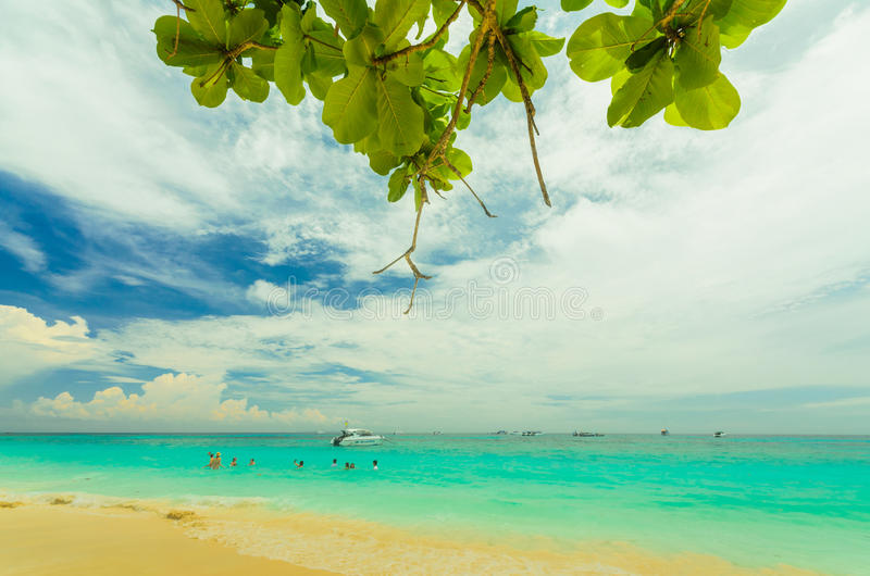 Tachai Island. Sea Sky Sand at Tachai Island,Thailand royalty free stock images