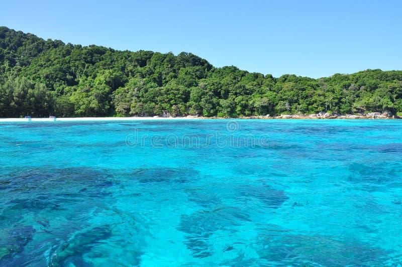 Tachai Island in Similan National Park. Phang Nga, Thailand stock photos