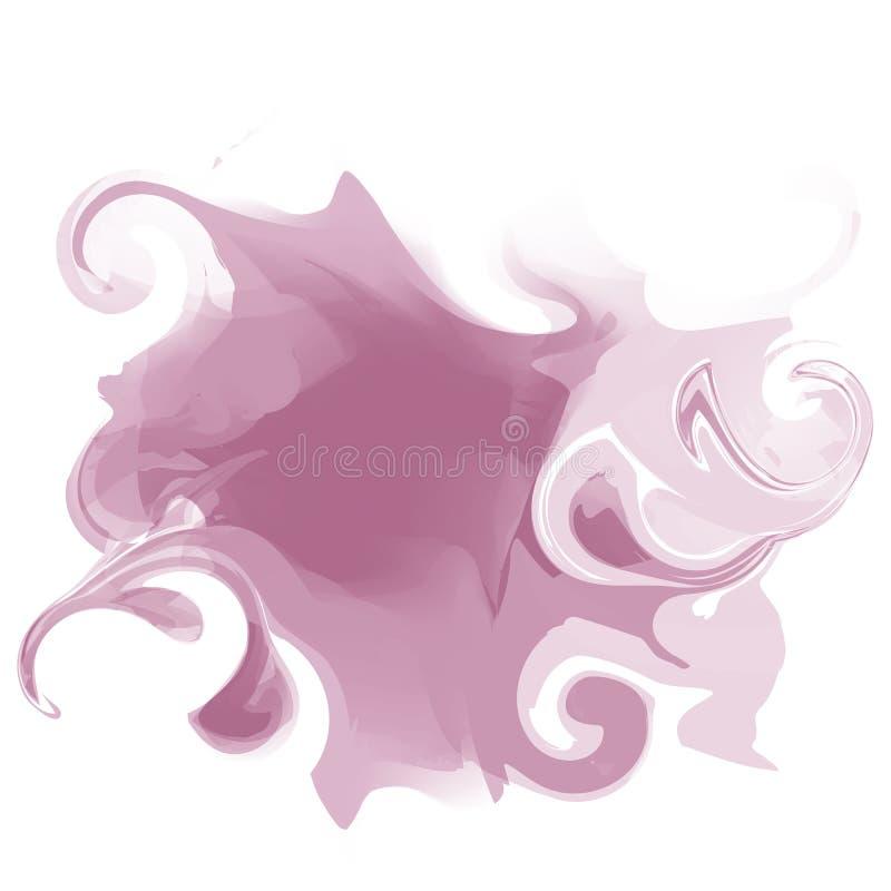 Tache abstraite colorée d'aquarelle Vecteur illustration libre de droits