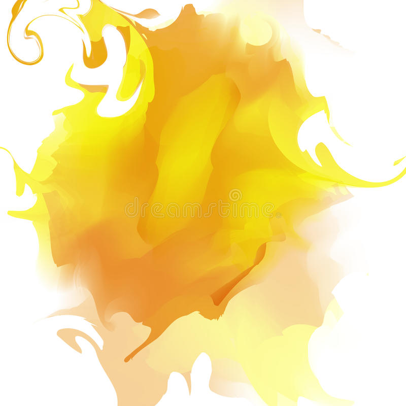 Tache abstraite colorée d'aquarelle Vecteur illustration stock