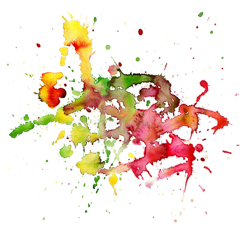 Tache abstraite d'aquarelle illustration libre de droits