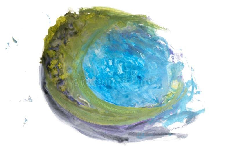Tache abstraite d'aquarelle d'isolement sur le fond blanc illustration de vecteur
