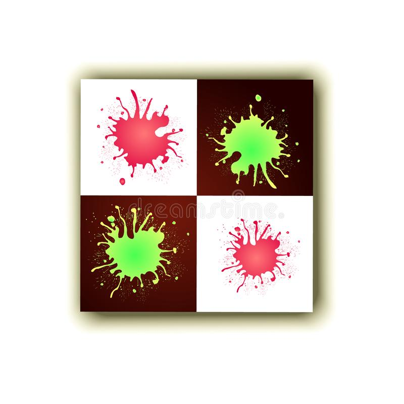 Tache abstraite de fond de stylo-plume pour l'inscription illustration stock