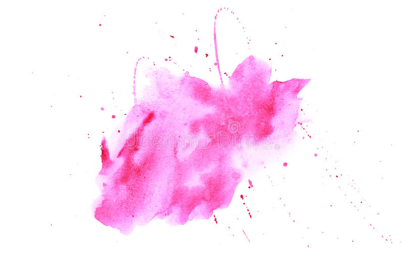 Tache abstraite de rose d'aquarelle photo stock