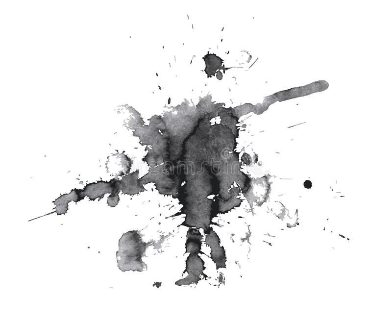 Tache abstraite noire illustration de vecteur