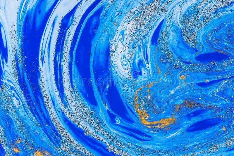 Tache acrylique liquide de couleur photos libres de droits