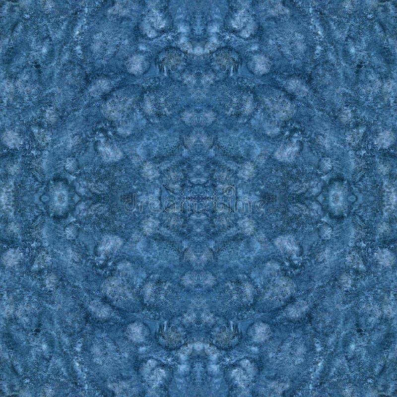 Tache avec la texture de papier Fond d'aquarelle Modèle bleu de texture sans couture illustration de vecteur