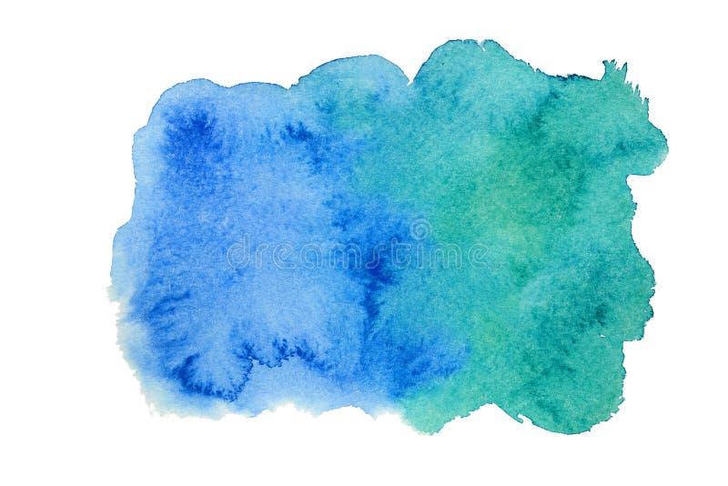 Tache bleue d'aquarelle images stock
