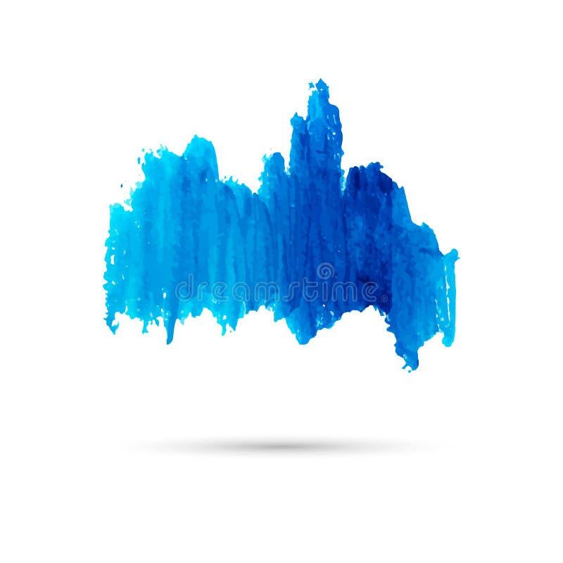 Tache bleue d'aquarelle Calibre pour le texte ou illustration de vecteur
