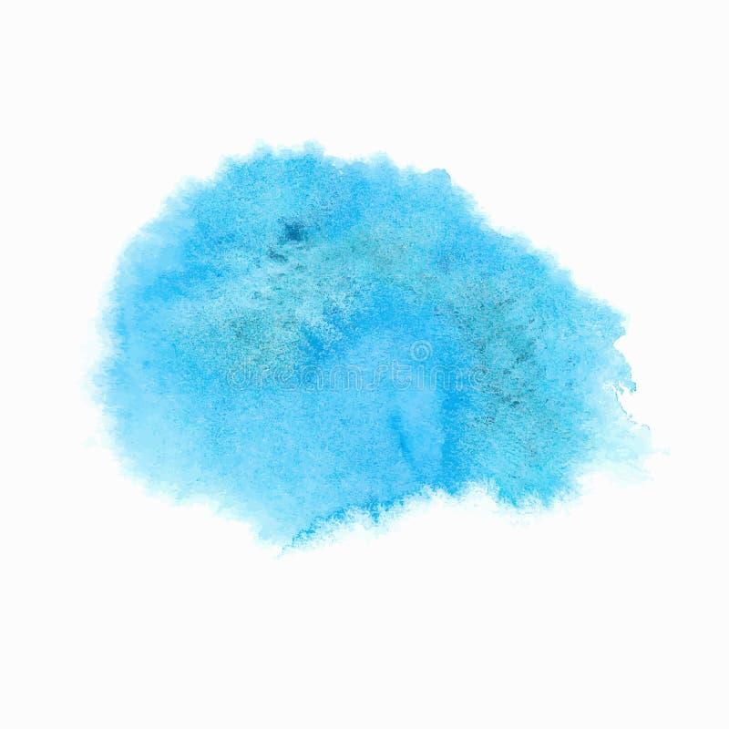 Tache bleue lumineuse d'aquarelle illustration stock