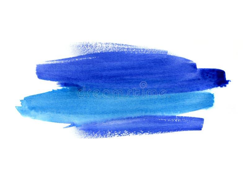Tache bleue lumineuse d'aquarelle sur le fond blanc illustration de vecteur