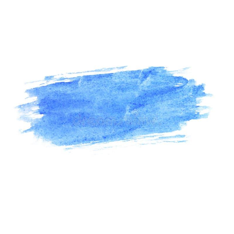 Tache bleue naturelle tirée par la main d'aquarelle illustration libre de droits