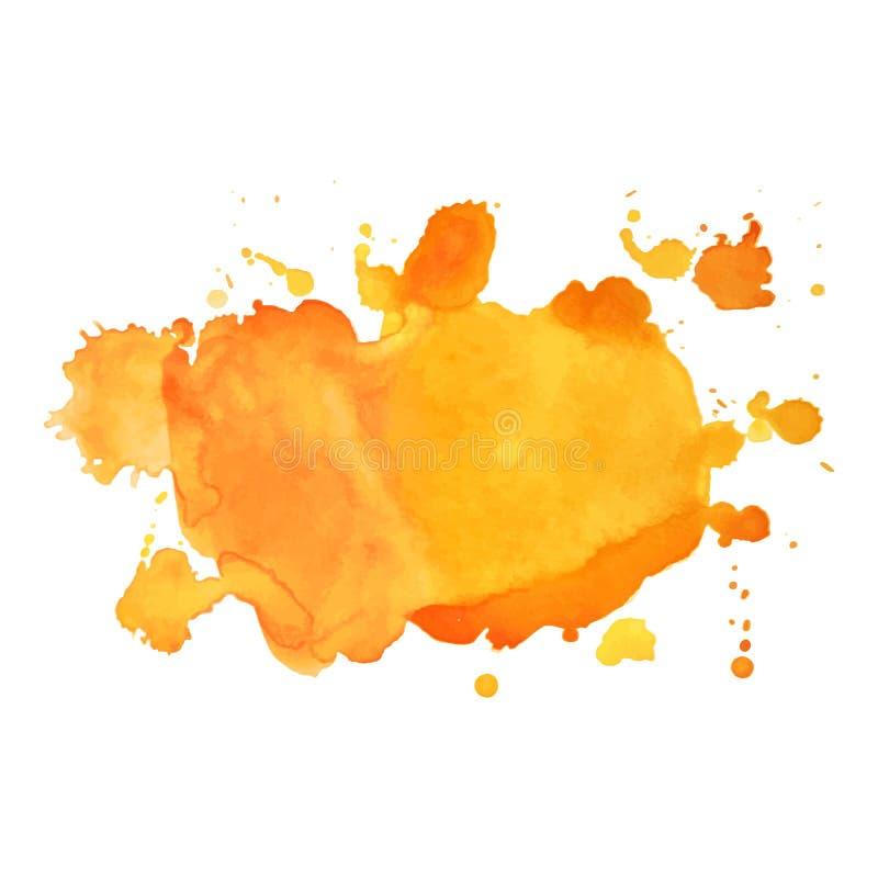 Tache colorée d'aquarelle de vecteur d'isolement par résumé Élément grunge pour la conception de papier Illustration de vecteur illustration de vecteur