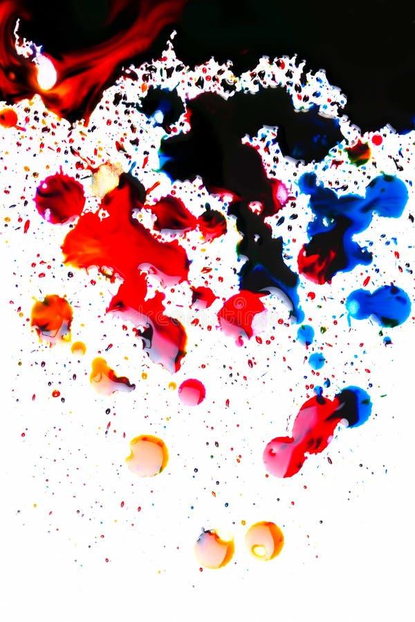 Tache colorée d'encre sur le blanc photographie stock libre de droits